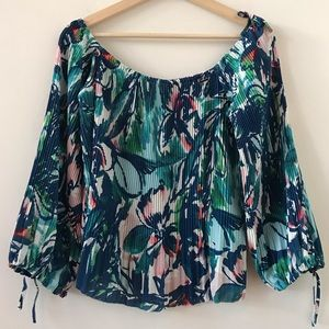 Gianni Bini Floral Off the shoulder accordion too